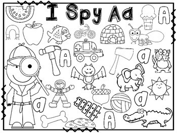 It is a picture of Breathtaking I Spy Printable Worksheets