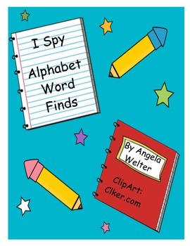 I Spy - Alphabet Word Finds