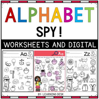 Alphabet Worksheets A-Z Kindergarten - Beginning Sound ...