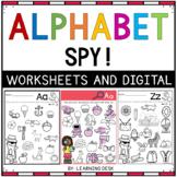 Alphabet Worksheet Beginning Letter Sound Recognition Pre-K Kindergarten Phonics