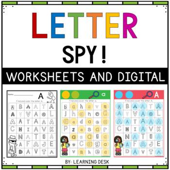Alphabet Worksheets A-Z Kindergarten - Letter Recognition