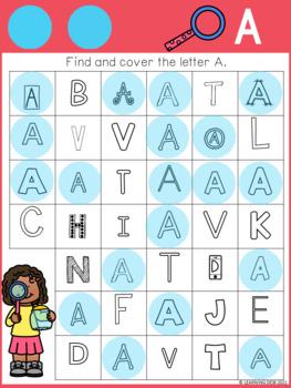 Alphabet Worksheets A-Z Kindergarten - Letter Recognition ...