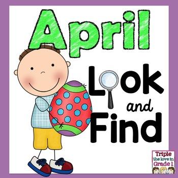 """I Spy"" April Edition (April Words & Sight Words)"