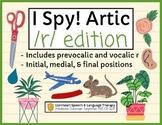 I Spy! Artic - PREVOCALIC R & VOCALIC R - Teletherapy - Di