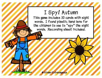 I Spy!  Autumn