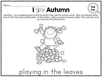 I Spy - Autumn Words