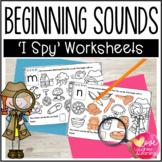 Beginning Sound Worksheets {I Spy!}