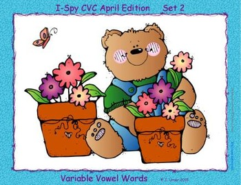 I-Spy CVC Learning Centers - Assorted Vowel Families Bundle (April Edition)