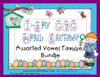 I-Spy CVC Assorted Vowel Families Bundle (April Edition)