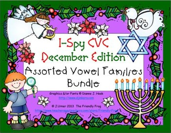 I-Spy CVC Learning Centers - Assorted Vowel Families Bundle (December Edition)