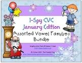 I-Spy CVC Learning Centers - Assorted Vowel Families Bundle (January Edition)