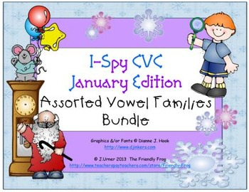 I-Spy CVC Learning Centers - Assorted Vowel Families Bundle (January Edition)