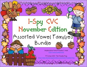 I-Spy CVC Learning Centers - Assorted Vowel Families Bundle (November Edition)