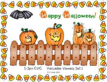 I-Spy CVC Learning Centers - Assorted Vowel Families Bundle (October Edition)
