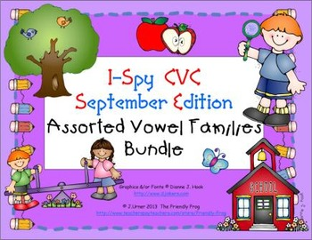 I-Spy CVC Learning Centers - Assorted Vowel Families Bundle (September Edition)