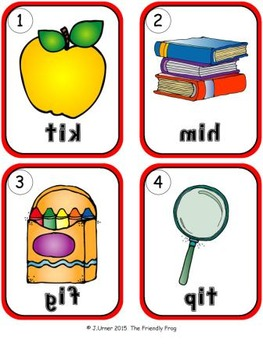 I-Spy CVC Mirror Words - Short /i/ Assorted Words (September Edition) Set 3