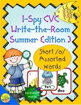 I-Spy CVC Mirror Words - Short /o/ Assorted Words (Summer Edition) Set 3