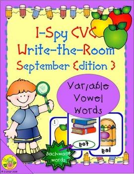 I-Spy CVC Mirror Words - Variable Vowel Words (September Edition) Set 3