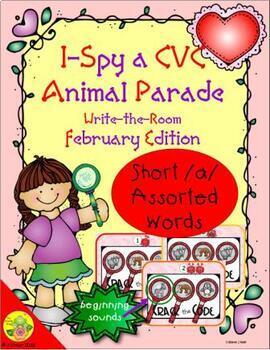 I-Spy CVC Beginning Sounds - Short /a/ Assorted Words (February Edition) Set 1