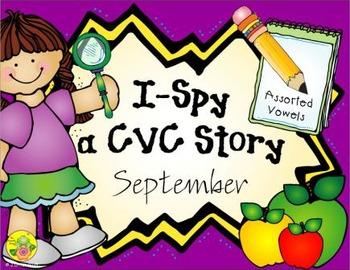 I-Spy CVC Creative Writing - Assorted Vowels (September Edition)