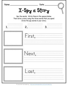 I-Spy CVC Creative Writing - Short /u/ & /e/ Words (September Edition)