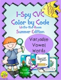I-Spy CVC Color By Code Variable Vowel Words Write-the-Roo