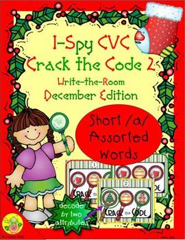 I-Spy CVC Crack the Code - Short /a/ Assorted Words (December Edition) Set 2