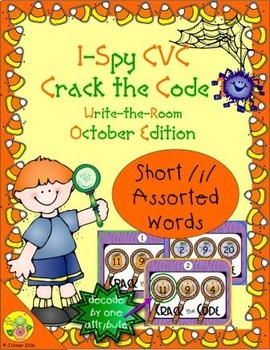 I-Spy CVC Crack the Code - Short /i/ Assorted Words (October Edition) Set 1