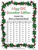 I-Spy CVC Crack the Code - Short /u/ Assorted Words (December Edition) Set 1