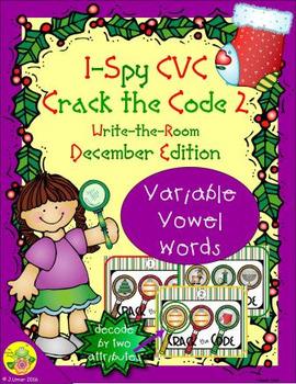 I-Spy CVC Crack the Code - Variable Vowel Words (December Edition) Set 2