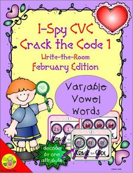 I-Spy CVC Crack the Code - Variable Vowel Words (February Edition) Set 1