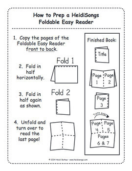 I Spy CVC Vol. 1 Print & Fold Easy Reader Books - Heidi Songs