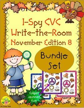 I-Spy CVC Fidget Spinner Fun Bundle (November Edition)