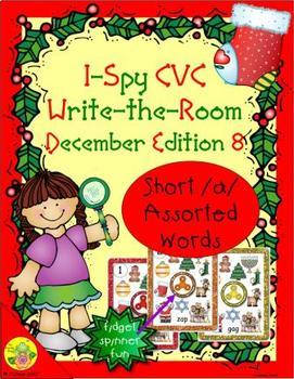 I-Spy CVC Fidget Spinner Fun - Short /a/ Assorted Words (December Edition)