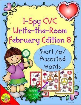 I-Spy CVC Fidget Spinner Fun - Short /e/ Assorted Words (February Edition)