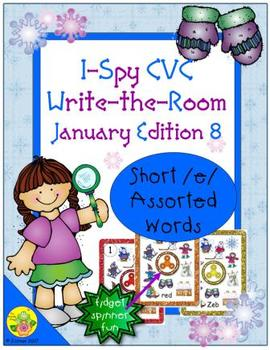 I-Spy CVC Fidget Spinner Fun - Short /e/ Assorted Words (January Edition)