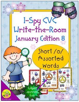 I-Spy CVC Fidget Spinner Fun - Short /o/ Assorted Words (January Edition)