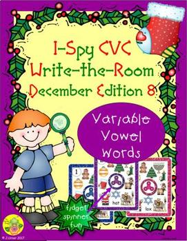 I-Spy CVC Fidget Spinner Fun - Variable Vowel Words (December Edition)