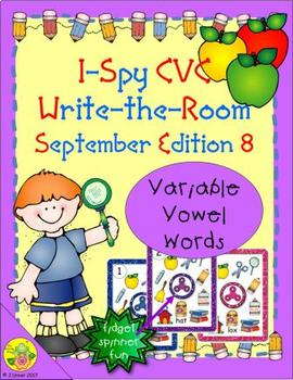 I-Spy CVC Fidget Spinner Fun - Variable Vowel Words (September Edition)