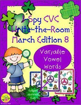 I-Spy CVC Fidget Spinner Fun - Variable Words (March Edition)