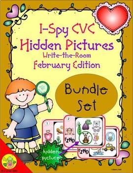 I-Spy CVC Hidden Pictures Bundle (February Edition)
