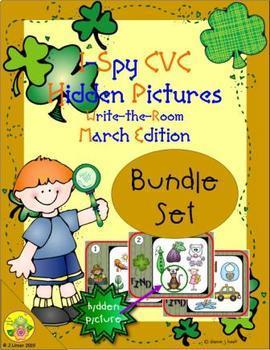 I-Spy CVC Hidden Pictures Bundle (March Edition)