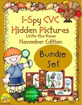 I-Spy CVC Hidden Pictures Bundle (November Edition)