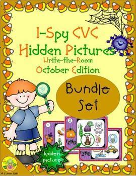 I-Spy CVC Hidden Pictures Bundle (October Edition)