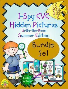 I-Spy CVC Hidden Pictures Bundle (Summer Edition)