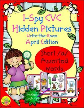 I-Spy CVC Hidden Pictures -- Short /a/ Assorted Words (April Edition)