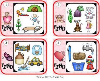 I-Spy CVC Hidden Pictures -- Short /a/ Assorted Words (February Edition)