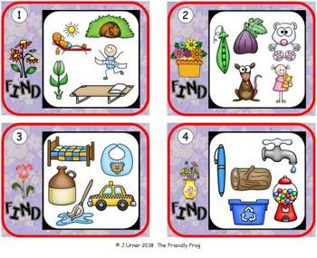 I-Spy CVC Hidden Pictures -- Short /i/ Assorted Words (April Edition)