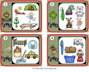 I-Spy CVC Hidden Pictures -- Short /i/ Assorted Words (March Edition)