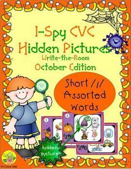 I-Spy CVC Hidden Pictures -- Short /i/ Assorted Words (October Edition)